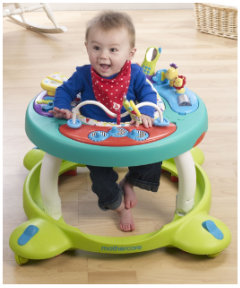 A baby in a baby walker